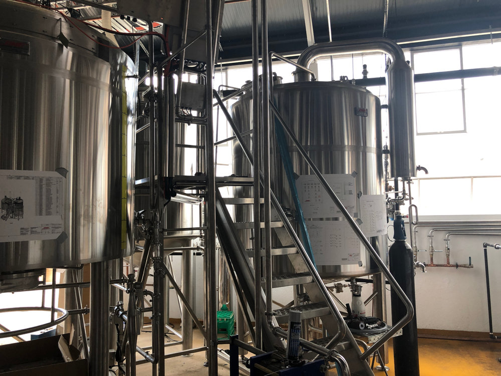 Deeds Brewing 3 Vessel Brew house almost running