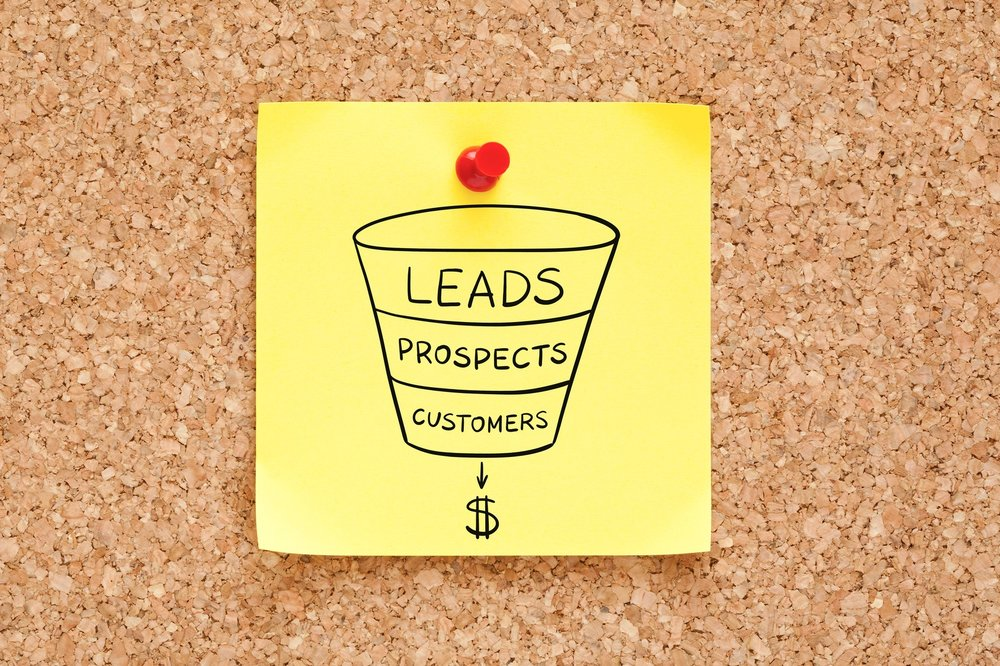 The sales funnel in its simplest form. A great landing page  moves people down the funnel .
