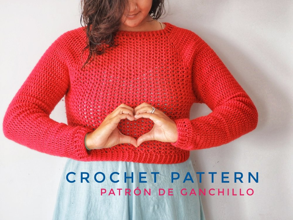 Sweetheart Jumper Crochet Pattern Nomad Stitches