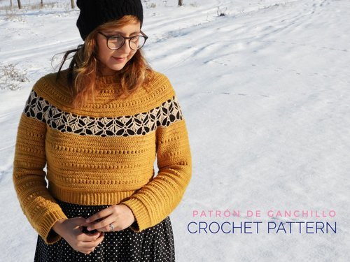 035a029c223 Ginkgo Cardigan and Pullover Crochet Pattern ...