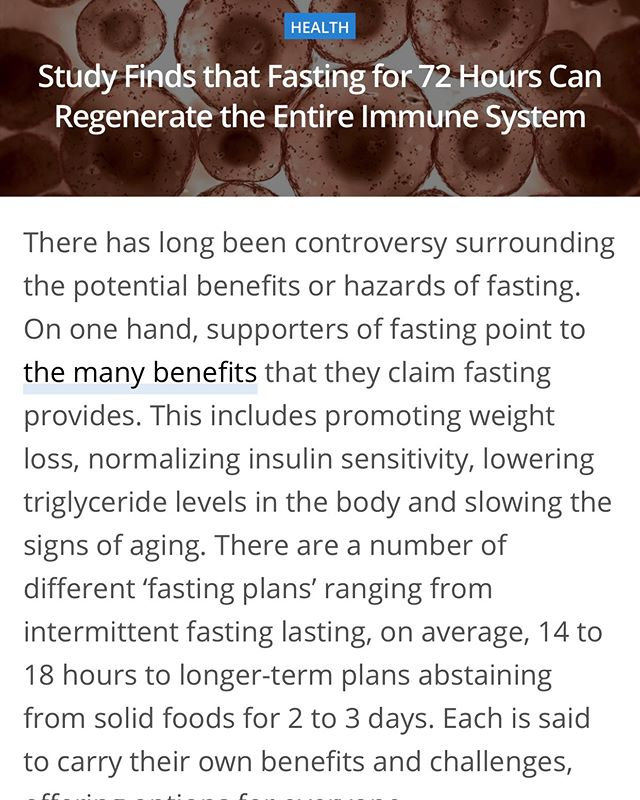 """I got allot of questions around my 72 hour fast and the most common one was """"This has to be un healthy"""". I never do anything that would jeopardize my health and I have been doing research and testing fasting for years with crazy good benefits. Go to my story and swipe on this article to read this great research. I like to just provide knowledge and let others make decisions on whats right for them🙏  With ❤️ coach, JV  #mesa #mesaz #Bodytransformation #bodytransformationspecialist #bodytransformations #bodytransform #bodytransformationexpert #bodytransformationmotivation #fitnessmotivation #jvimpacts #successcoach #podcast #god #love #faith #love #speaker #bodybuilding #breakthrough #marriage #breakthrough #motivationalquotes #weightloss #transformation #business  #fit #health #inspirationalquotes  #legacy l#comfortzone #yourwhy #3tmethod"""