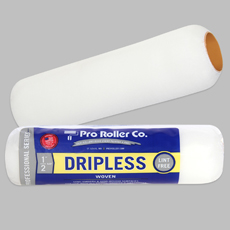 """9"""" x 3/8"""" Dripless - Lint Free    Size : 9""""  Nap Size : 3/8""""  Material Type : WOVEN  Surface Type : Smooth/Semi-smooth"""
