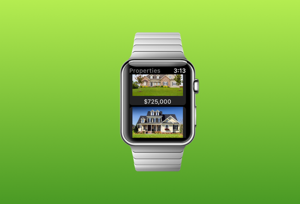 Receive property notifications right on your Apple Watch.