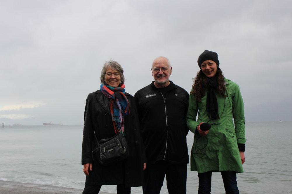 2016 Kits Beach soundwalk w/Hildegard Westerkamp, Paul Kennedy, Jenni Schine.
