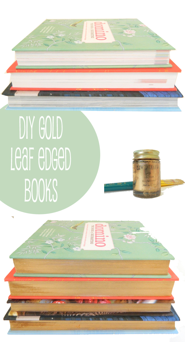 Diy Gold Leaf Edged Books