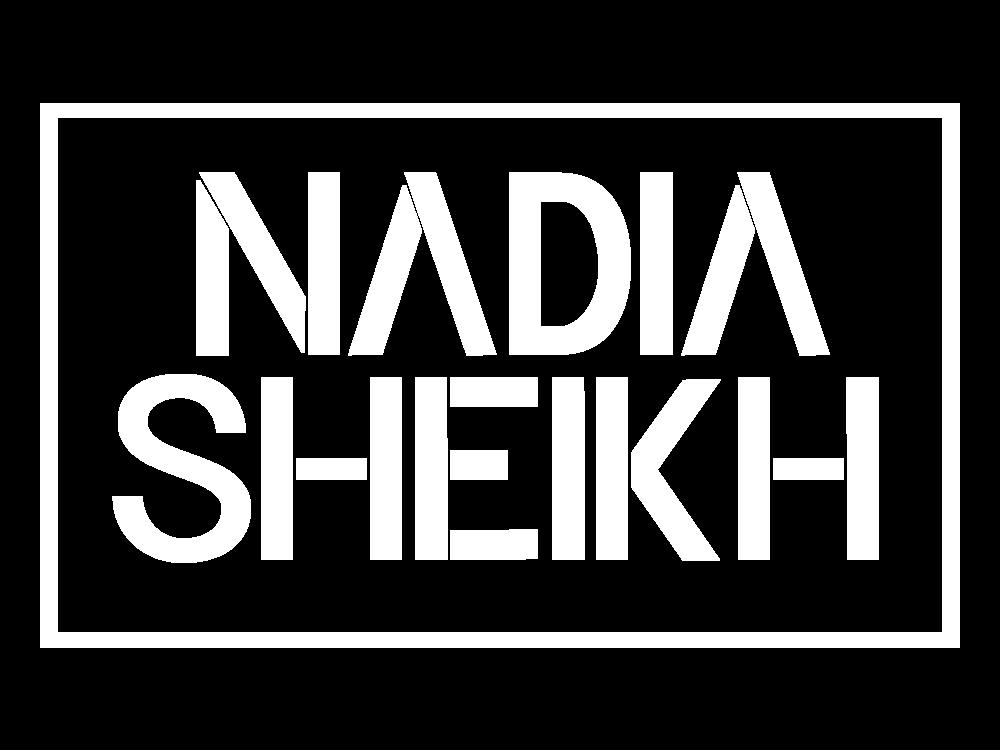 Nadia Sheikh Logo Square White