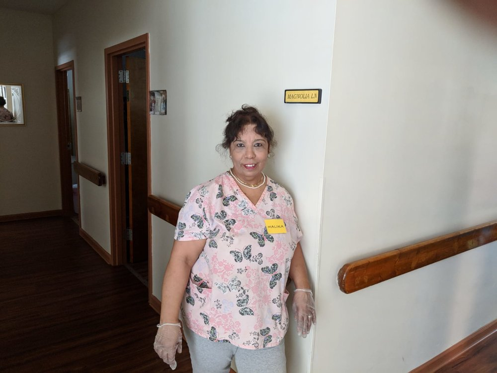 Malika, a member of our staff.