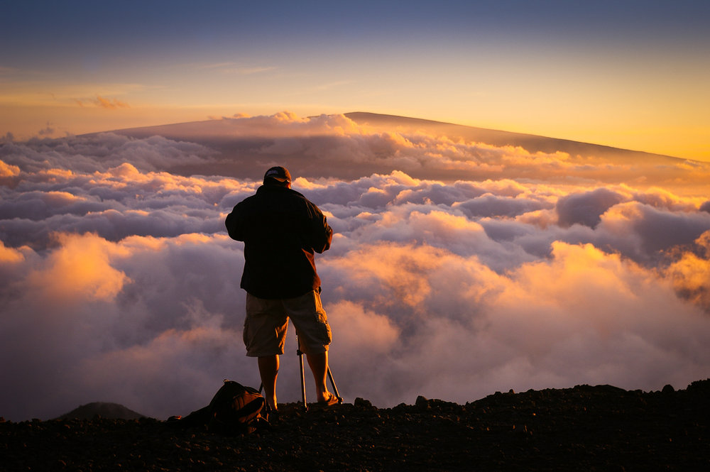 Me photographing on top of Mauna Kea, Hawaii