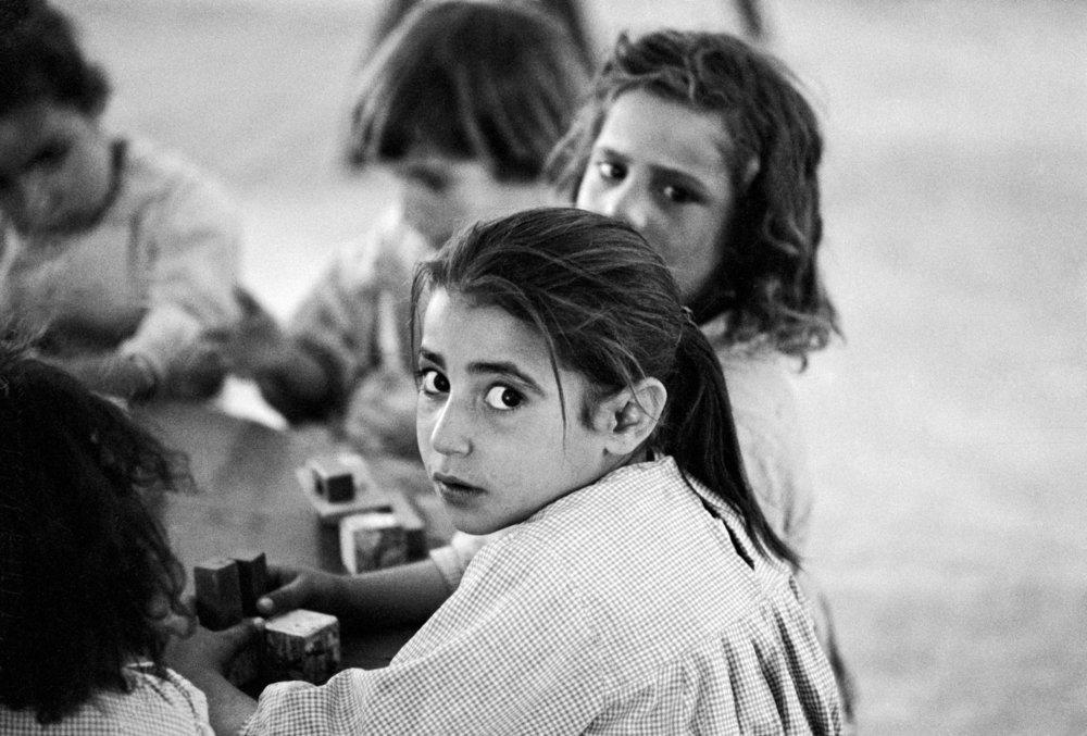 Refugee children in a Kindergarten of the New Camp in Jordan. 01 January 1961 I Jordan  © UN Photo/PB