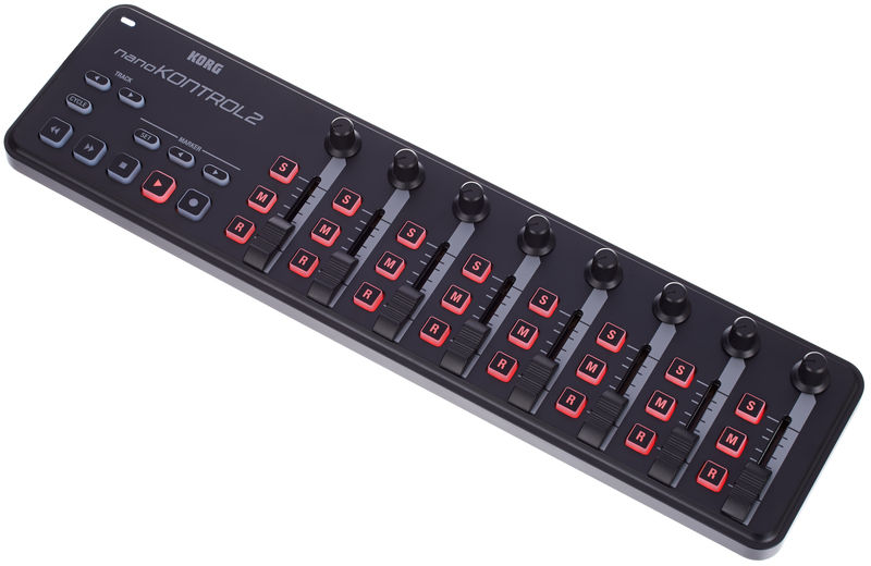Supports MIDI Devices like the Korg nanoKontrol 2