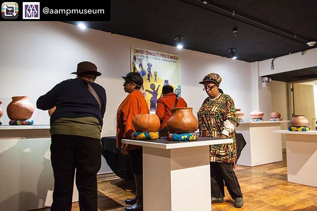 """Crafting Community: What's the Tea?"", Sunday Dec 2, 10:30am-1:30pm at the African American Museum in Philadelphia. In partnership with @aampmuseum and students of @robertolugostudio at @tylerceramics, we're gathering neighbors to join us for #teaandtalk, featuring local small bites, craft teas, handmade ceramics, and YOU!!! Free to participate. Must RSVP. Link in bio. ✨ 📸credit: @embassy730 #repost #teaandtalk #craftingcommunity #sociallyengagedcraft #phillyceramics #phillycommunity #phillyartists #phillycraft #communityconversations #sundaytea"