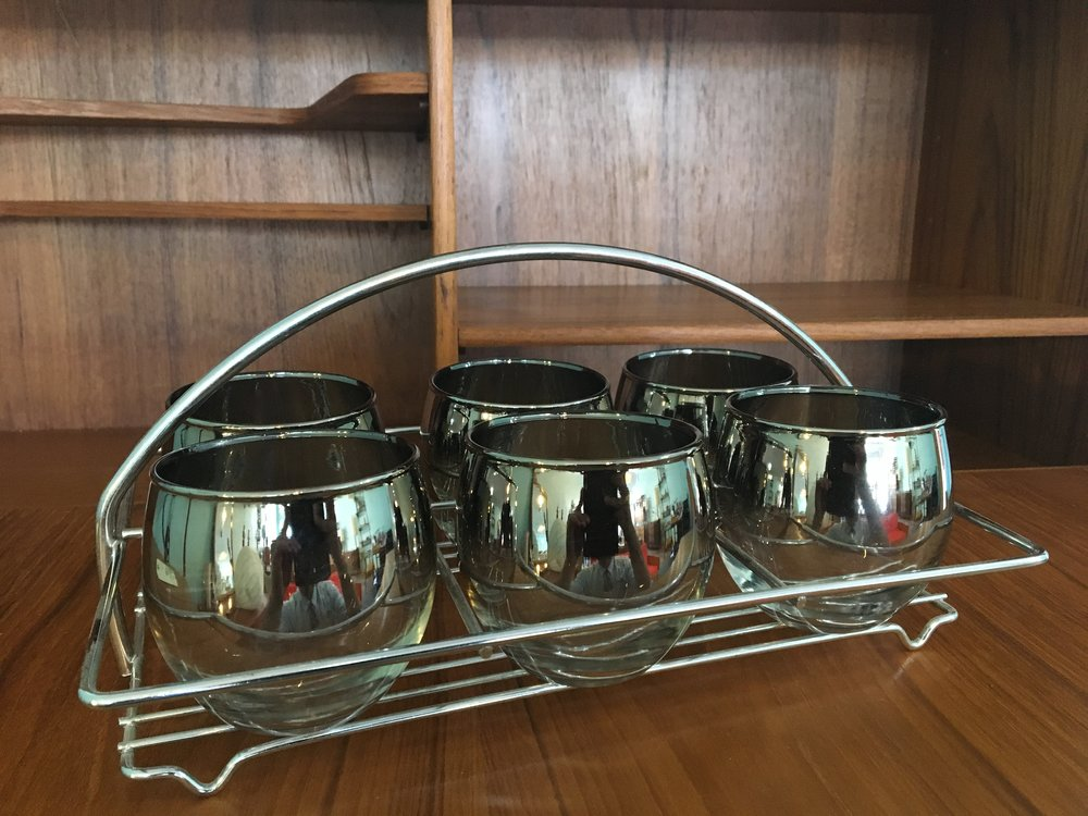 Cocktail Glasses with Tray - $75