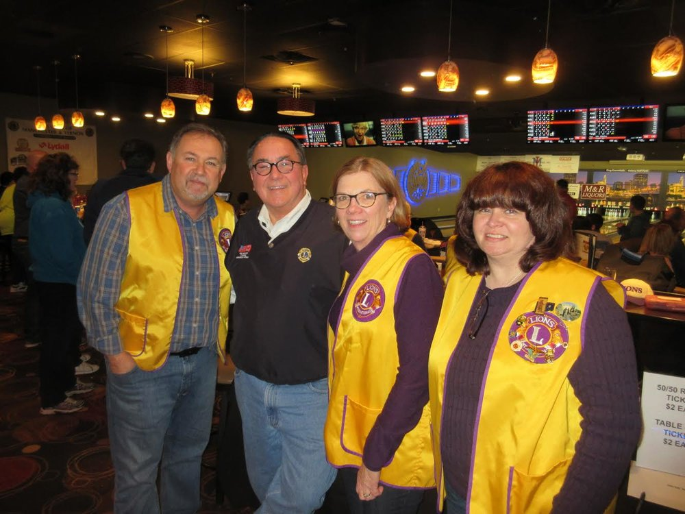 Manchester Lion's Club President, Dave, with other Lions.