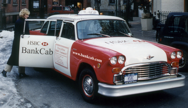 HSBC Bank Cab