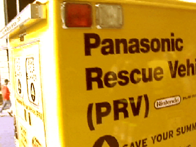 One of three PRVs (Panasonic Rescue Vehicles) dispatched across the country to help save the Summers of consumers. These were ambulances that we retrofitted with flat screen tvs and gaming systems, that became the focal point for our demonstrations of all the cool products Panasonic had to offer.