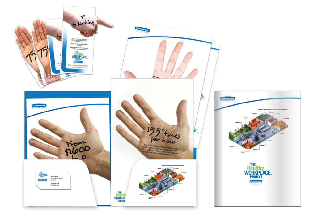 A comprehensive step-by-step guide to selling in the program, signage and stickers to place around the office, posters for the break rooms, and ads to run in publications – all to help spread the word about not spreading the germs.