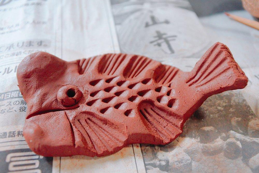 椿屋陶芸館で作れる「コブダイ」