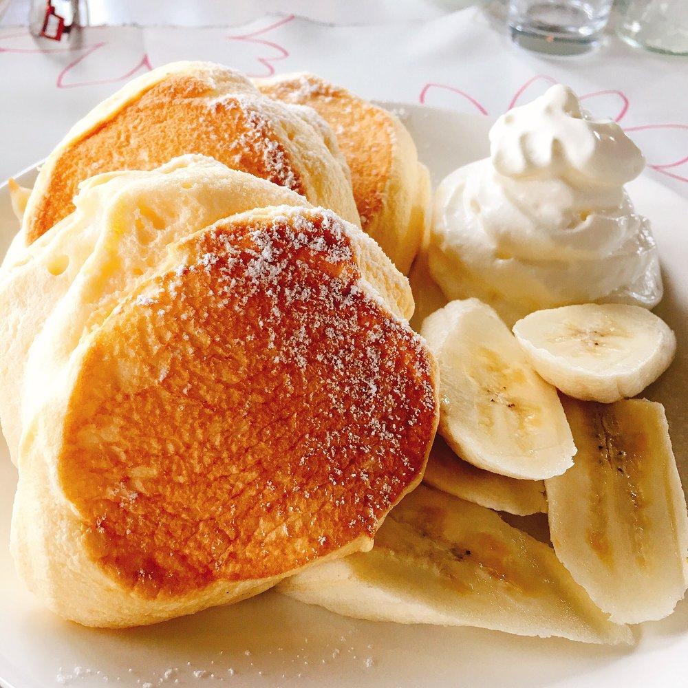 かふぇすみよしの「スフレパンケーキ」