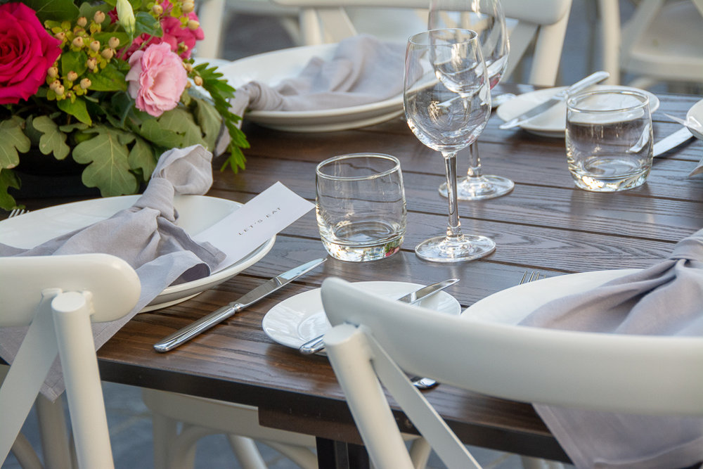 Wellington trestle table hire