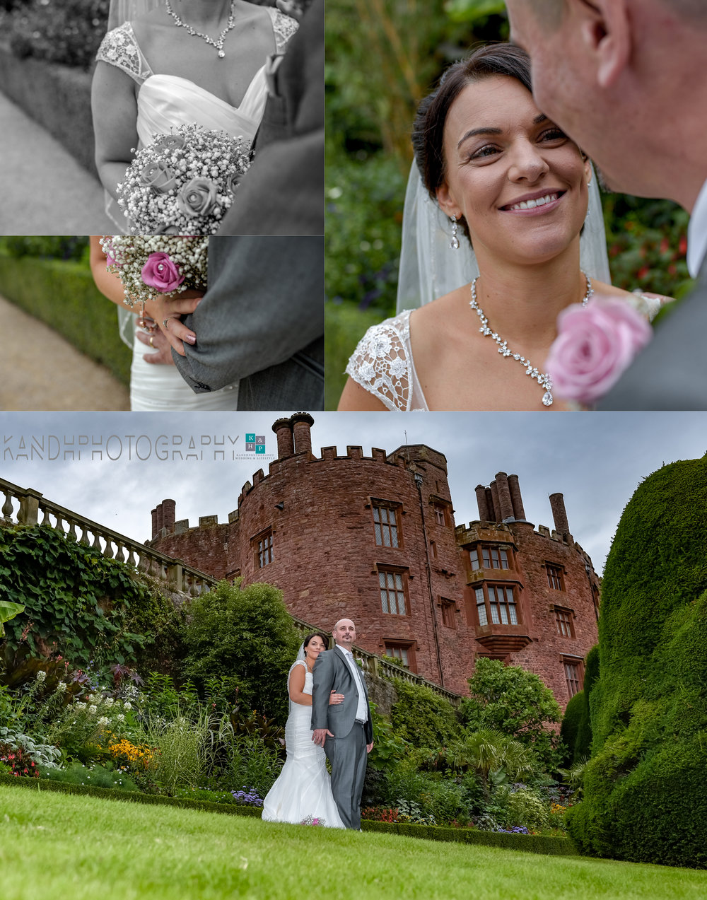 Powis Castle wedding photography.