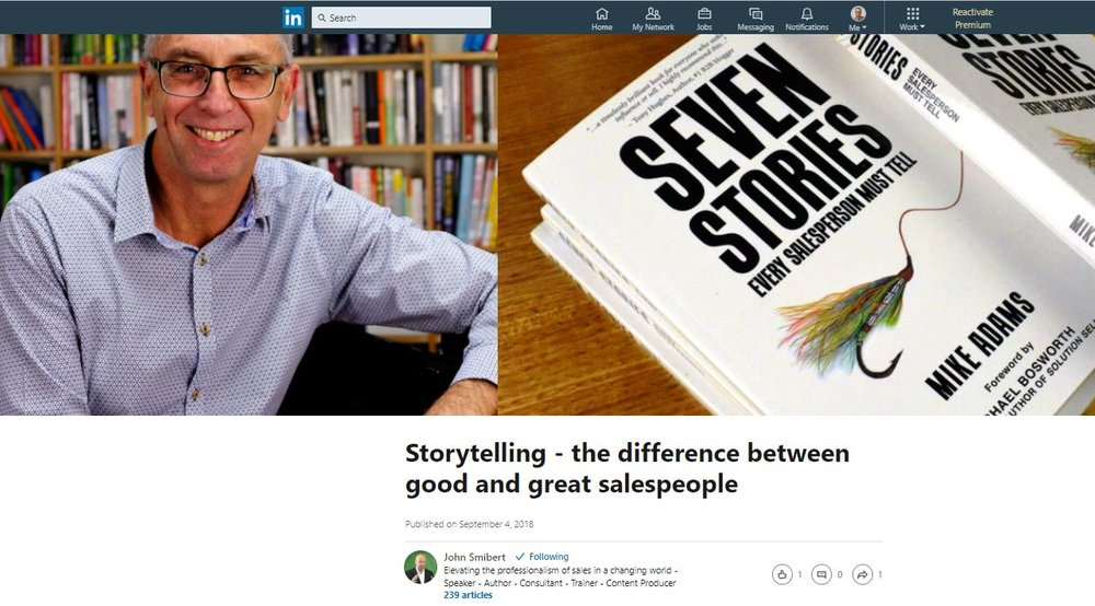 John Smibert's review of Seven Stories Every Salesperson Must Tell
