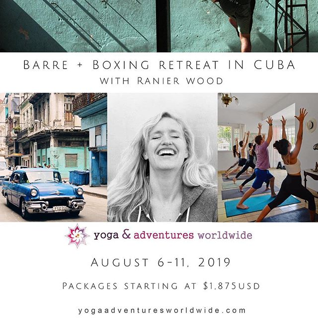 Want to take class with Ranier in August? Want to do it in Cuba? And then try boxing and dancing with the locals and eat healthy food and maybe do a little journaling and arting? Well then come on! Come with us in August. The studio may be quiet then but Cuba won't be... 😍  Once in a lifetime opportunity folks. YOLO this shiz, and SIGN UP! 😂 Let's get sweaty in Cuba...❤️ #Cuba #barreretreat #tribetravels