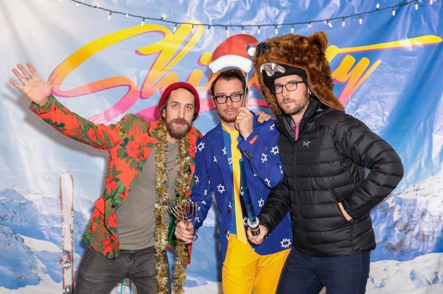 Holiday Party shenanigans, tailored by our friends @shinestythreads 🌴⛄️🐻 . #holidaze #boulder #startups #fun #photobooth #shinesty #2016 #tbt #throwback #besilly