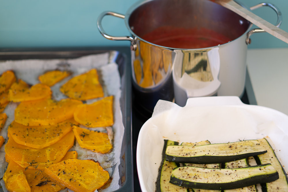 Vegetarian Lasagna with Pumpkin, Zucchini & Spinach