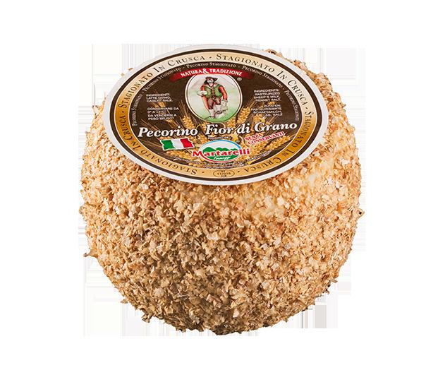 Fior di Grano - Pecorino - INGREDIENTI: Latte di pecora pastorizzato, caglio, sale. Latte ItalianoCARATTERISTICHE: Pasta fine e granulosa , sapore delicato, di color paglierino scuro.STAGIONATURA: 9 mesiDESCRIZIONE DEL PRODOTTO: Il Pecorino viene stagionato ad una temperatura ideale per 9 mesi. Di cui 3 nella crusca,che favorisce una fermentazione lenta e naturale. Il risultato è un formaggio dal gusto delicato, che lascia il palato dolcemente soddisfatto.