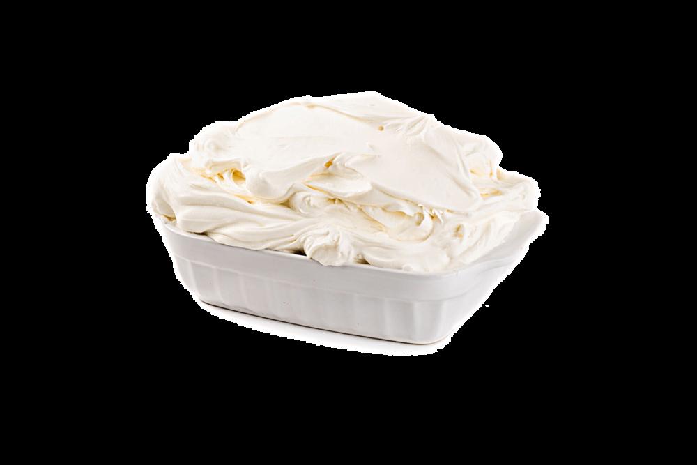 MASCARPONE Fresco - INGREDIENTI: Latte bovino pastorizzato, panna pastorizzato, caglio, sale. Latte italiano, panna italiana.CARATTERISTICHE: Cremoso, bianco panna, dal sapore leggero e delicato.CONSERVAZIONE: 0/4°C.