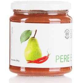 CONFETTURA PERE E PEPERONCINO - Descrizione: La pera contiene una buona quantità di zuccheri, pectine e composti antiossidanti. Il peperoncino contiene vitamine ed enzimi emodinamici, svolge un'importantissima azione antiossidante.Ingredienti: pere bio, zucchero di canna bio, peperoncino bio.