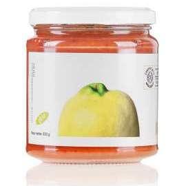 CONFETTURA DI MELE COTOGNE   - Descrizione: La mela cotogna è un frutto ricco di vitamine A, B e PP. Contiene pochi zuccheri, molte fibre e tannino. Vanta proprietà emolienti, sedative, antibatteriche, antinfiammatorie, toniche e astringenti.Ingredienti: mela cotogna bio, zucchero di canna bio, mele bio, succo di limone bio.