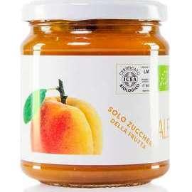 COMPOSTA DI ALBICOCCHE  - Descrizione: È il frutto più ricco di potassio e beta-carotene, fondamentali per proteggere la pelle e favorire la produzione di melanina. Ricco di vitamina A, B, C, PP e di numerosi oligoelementi.Ingredienti: albicocche bio, succo d'uva bio, succo di limone bio.  Solo zuccheri della frutta.