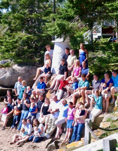 Baines clan annual lighthouse photo; 2014