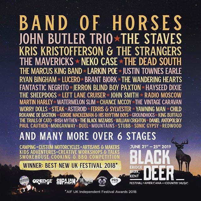 We're very honoured to be playing the Roadhouse stage at the @blackdeerfest , curated by Desertscene!  21st – 23rd June, you can pick up some tickets here: https://blackdeerfestival.com/tickets/  and come see us in the deer park #blackdeerfest https://blackdeerfestival.com/tickets/  Can't wait to boogie with ya'll!