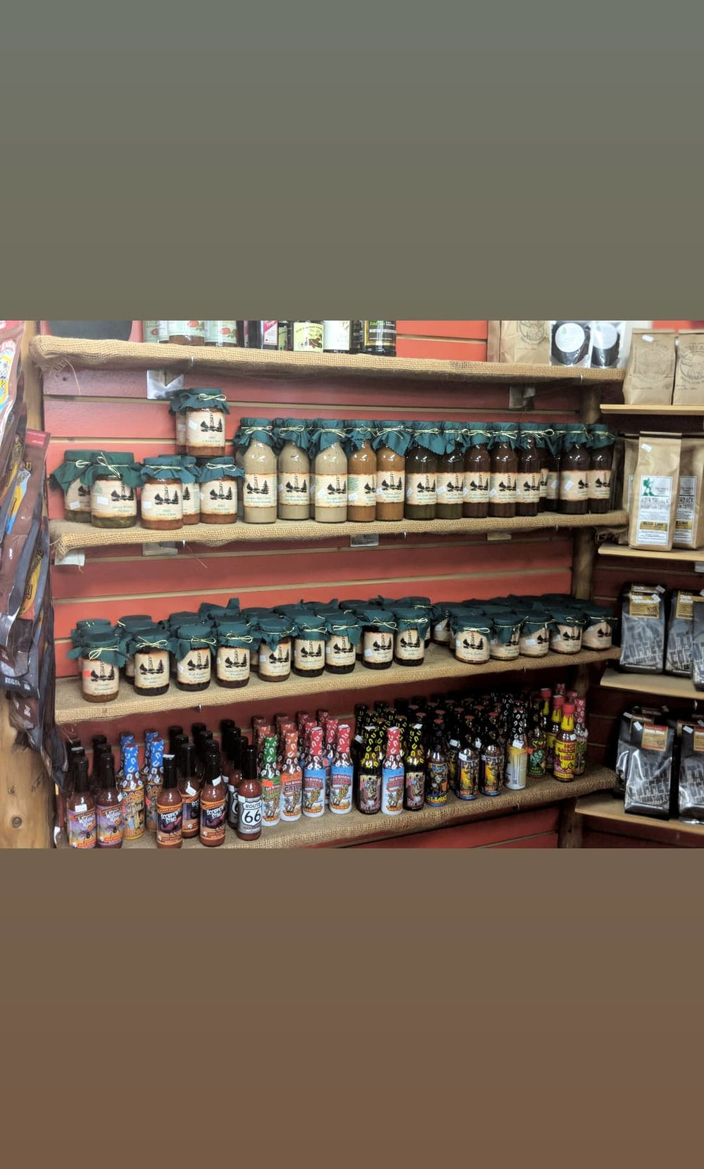Jams, sauces, and coffee!
