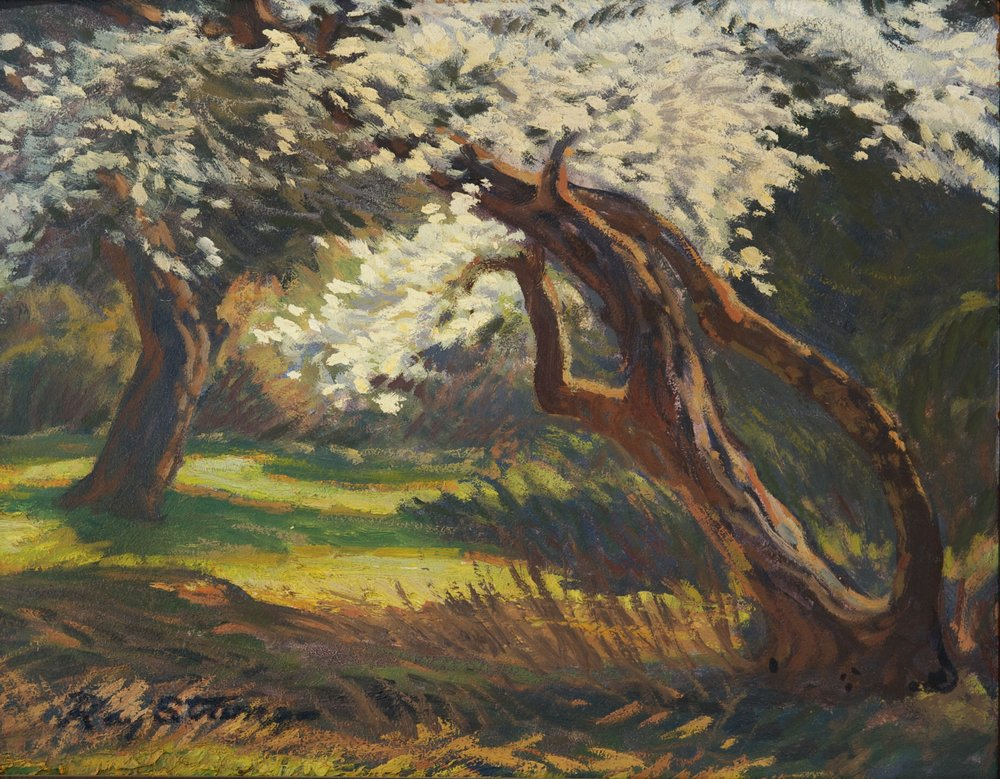 Ray Strong, Eleanor's Plum Tree, oil on canvas, 1973, 2009.3.1