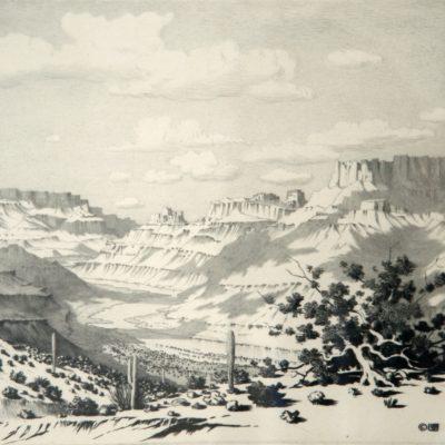 George Elbert Burr, Cloud Shadows, Apache Trail, print, 2004.2.2