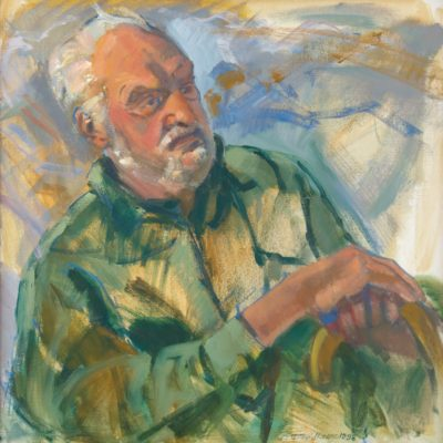 Portrait of Ray Strong, Deborah Veldkamp, oil on canvas, 1998, 2003.1.1