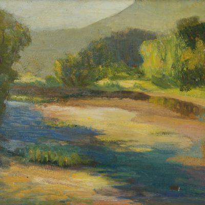 Dewitt Parshall, River Pool, oil, 1923, 2000.2.1