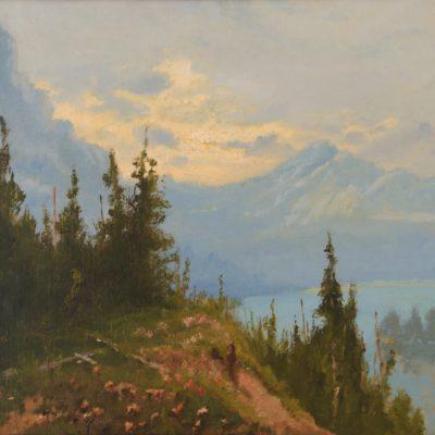 John Fery, Blue Lake (Glacier National Park), oil on canvas, ND, 2001.1.2