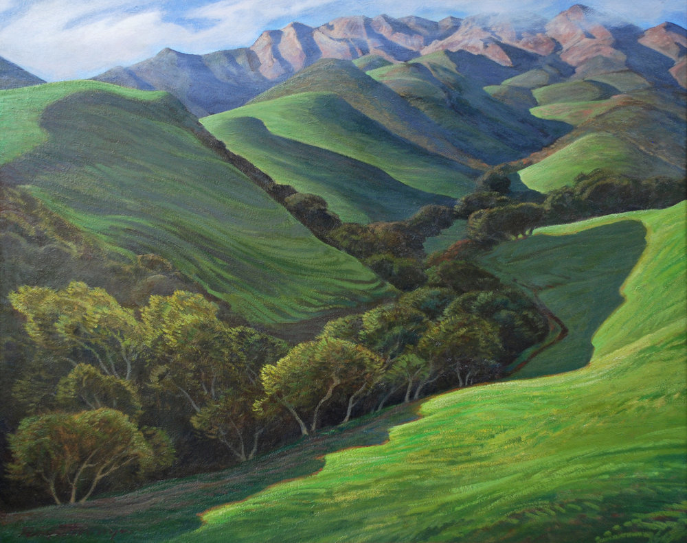 """Green Valley Reaching Towards Purple Peak"" 