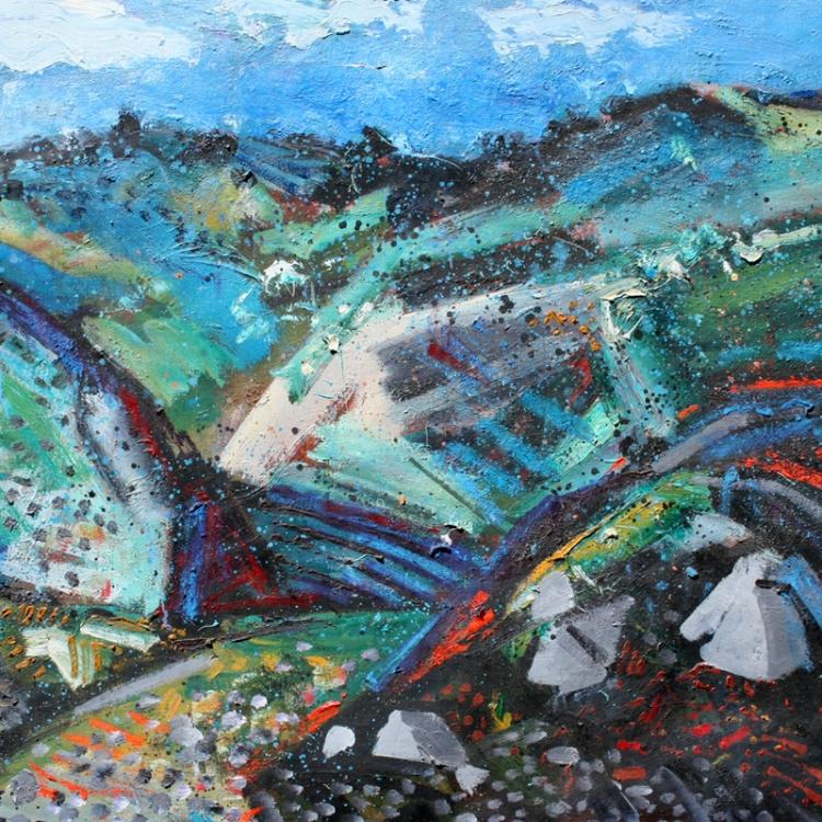 Channing Peake, Spring Rain, Santa Ynez Mountains