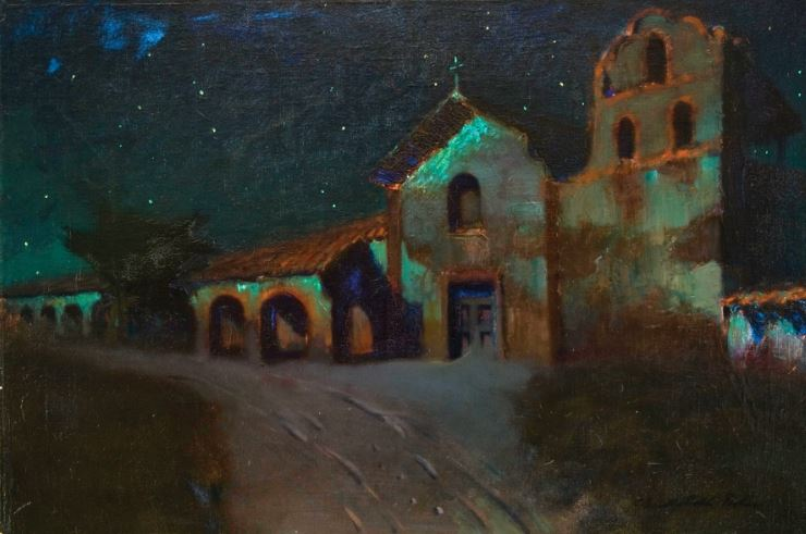 Charles Rollo Peters, Santa Ynez Mission by Moonlight