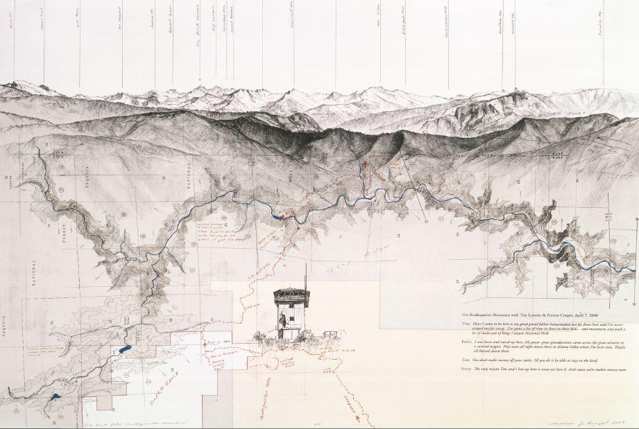 Matthew Rangel, Due East Over Shadequarter Mountain, 2008.JPG