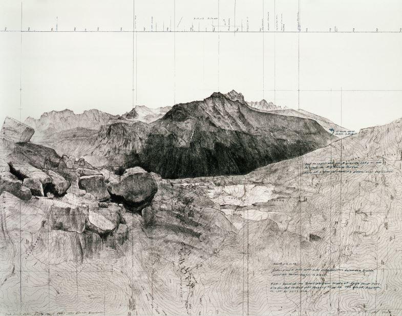 Matthew Rangel, Due East From Eagle Scout Pass, The Black Kaweah, 2008.JPG
