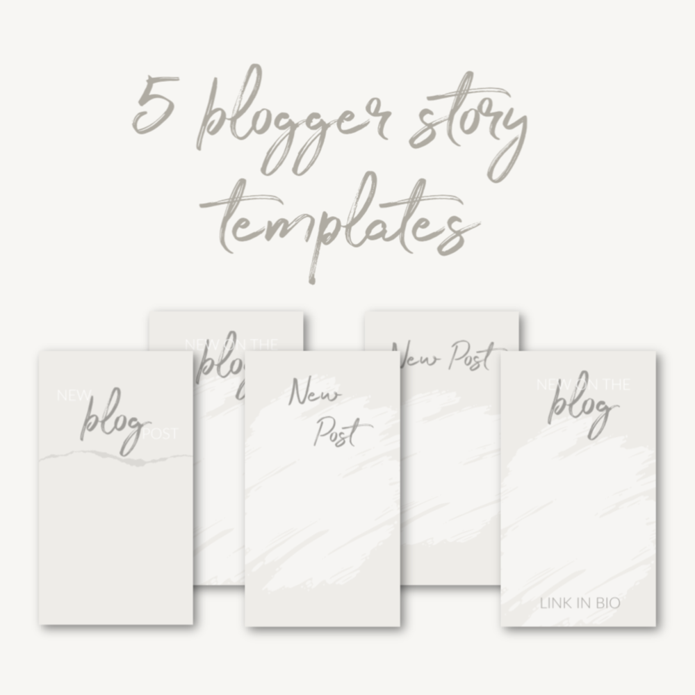 5 Blogger Story Templates   Download them for free by clicking  here