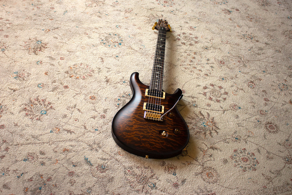 PRS Custom 24 - Colour: Quilted Maple 10 Top - Black GoldPurchased: October 2017