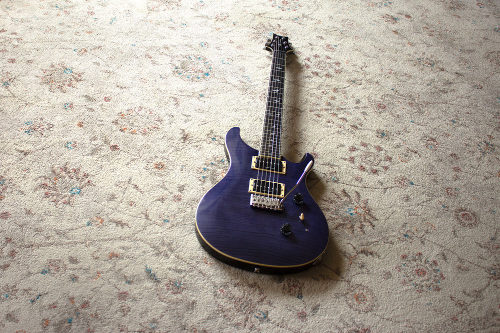 PRS SE Custom 24 - Year: 2016Colour: Whale Blue (looks purple)Purchased: Nov 2017