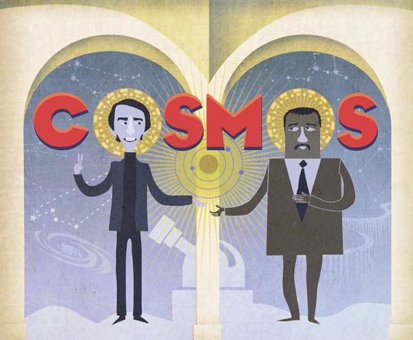 Carl Sagan and Neil deGrasse Tyson Cosmos